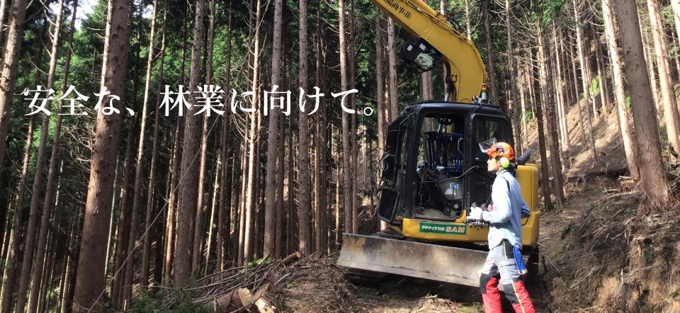 安全な、林業に向けて。