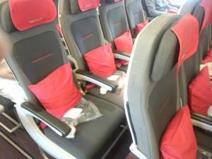 オーストリア航空機内