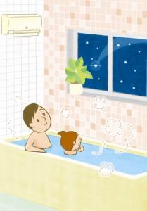 浴室暖房乾燥機なるほど読本画像流れ星に願いをこめてイラスト_S