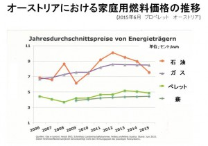 オーストリアにおける家庭用燃料価格の推移